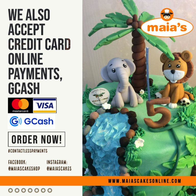Credit Card and G-Cash Payments for Maia's Cakes